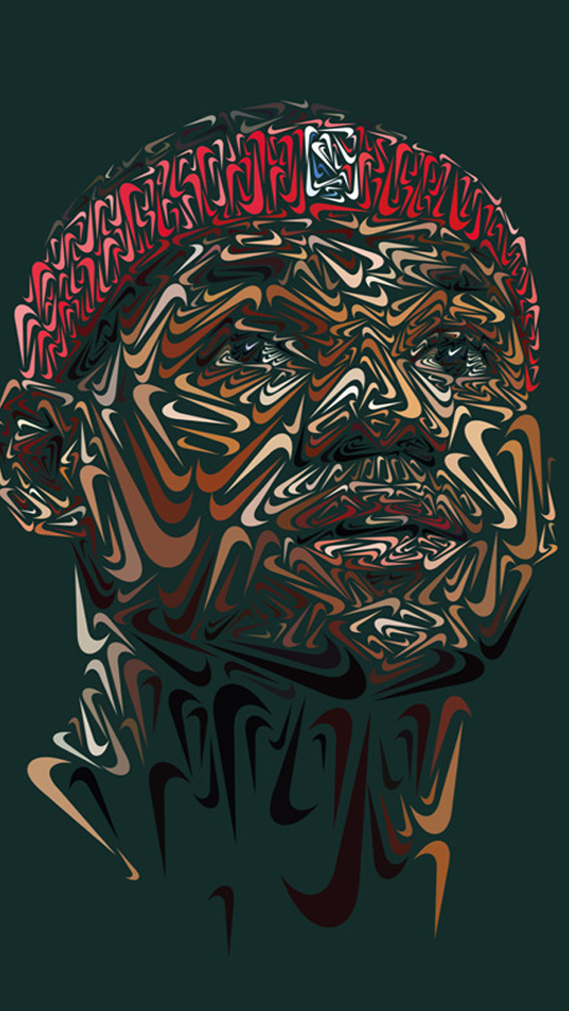 LeBron James Nike Portrait iPhone 5s Wallpaper Full Face