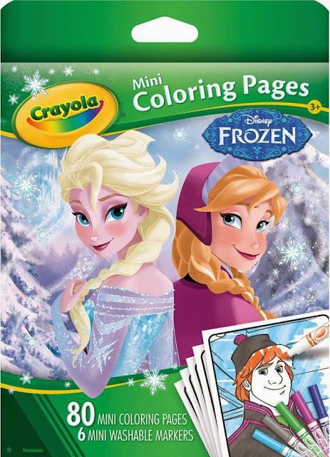 Sản phẩm Bộ bút dạ và giấy tô màu Mini hình Frozen Crayola