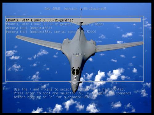 'immagine di sfondo in GRUB2