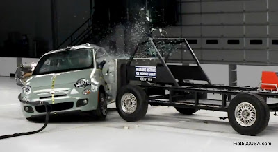US Fiat 500 side crash test