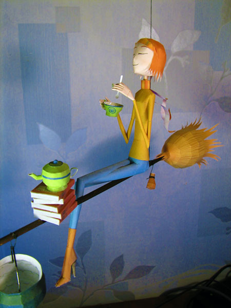Tea Witch Elena Papercraft