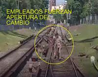"""El ministro del Interior y Transporte, Florencio Randazzo, informó este mediodía que """"el hecho ocurrido el 30 de diciembre pasado en horas de la mañana cuando un tren de la Línea Sarmiento descalzó de la vía no fue un hecho fortuito"""""""