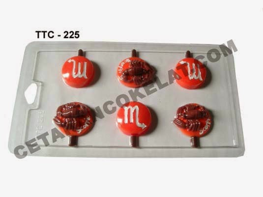 Cetakan Coklat TTC225 Zodiac Scorpio