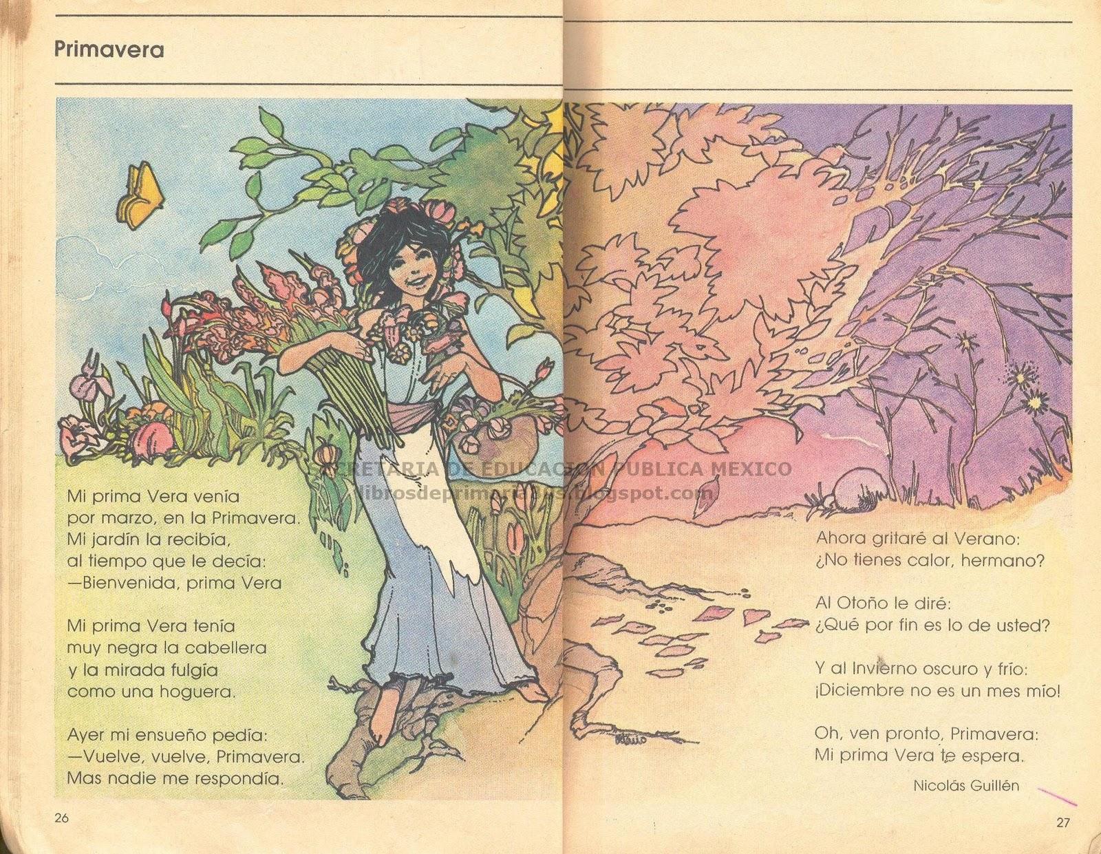 Libros de primaria de los 80 39 s primavera mi libro de for Que luna estamos ahora