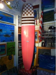 this is a colorful board and is 18 by 22.25 by 14 tail and 2.58 thick