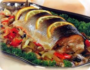 Запеченная диетическая рыба