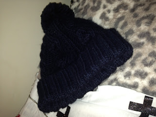 Navy Primark Bobble Hat