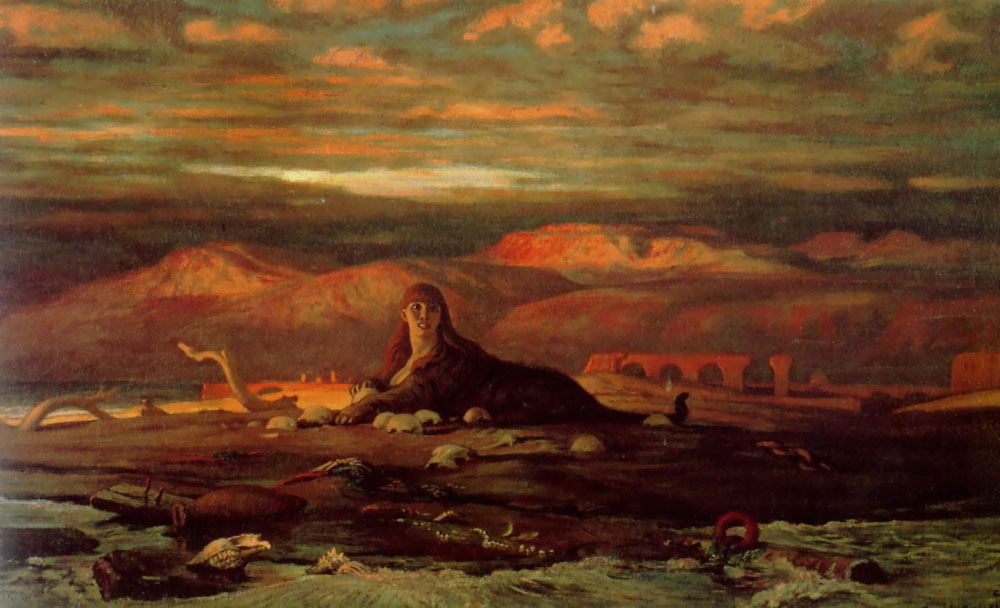 Elihu Vedder - The Sphinx of the Seashore