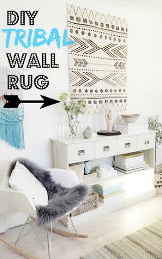 Tribal wall rug DIY