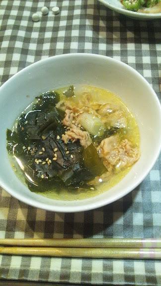 豚バラのスープ