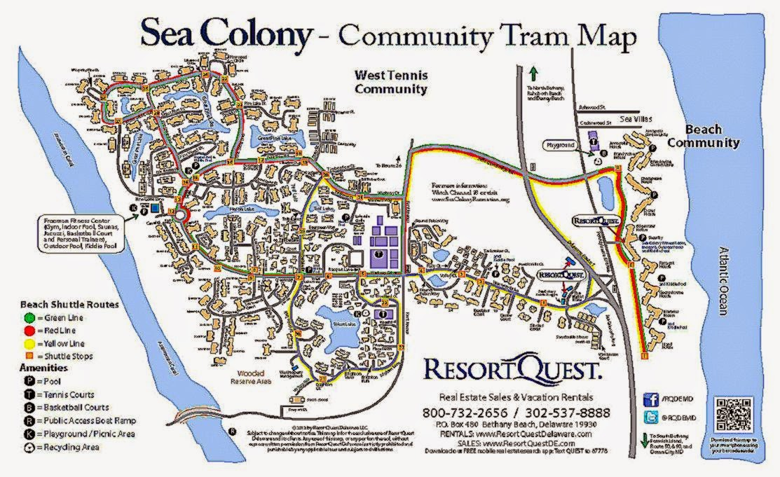 Sea Colony Tram Map   ResortQuest Real Estate