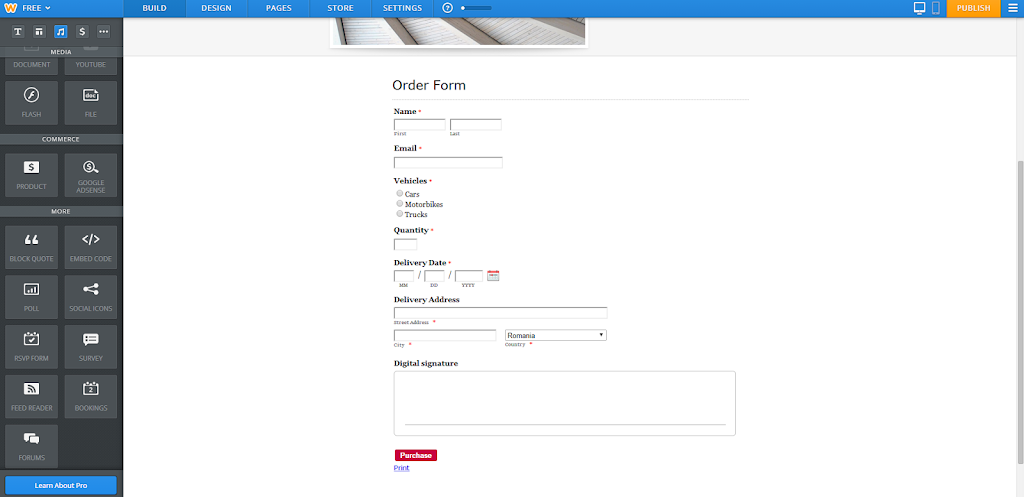 How to publish online forms on Weebly sites? - 123ContactForm Help