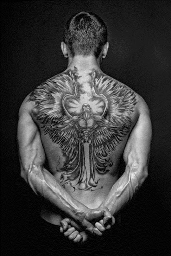 angel tattoos for men on back