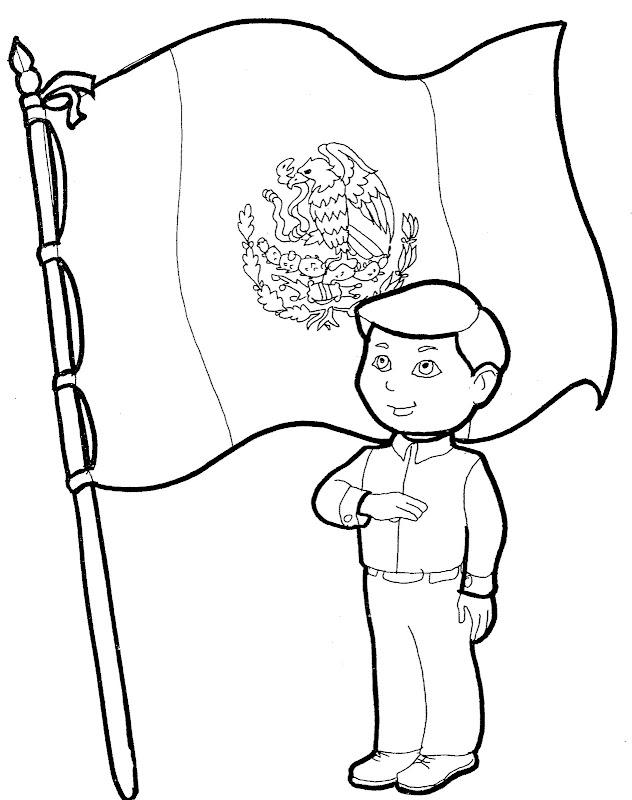 Dibujos para colorear del día de la bandera