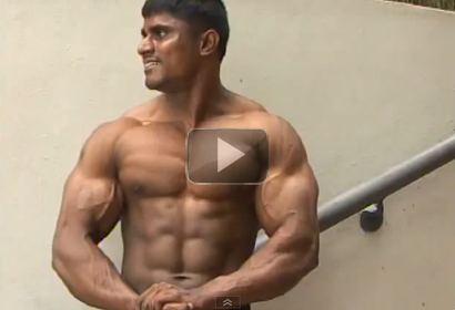 MuscIemania Bodybuilder Krishna Murthy Poses