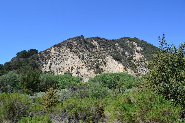 cliff above Mono Campground