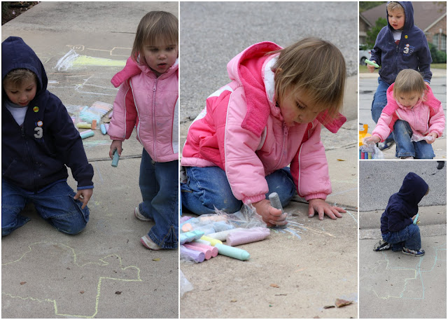 Chalk was everywhere, but they were having a blast.