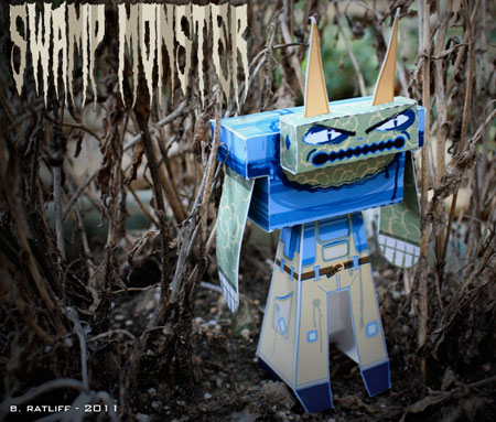 Swamp Monster Paper Toy
