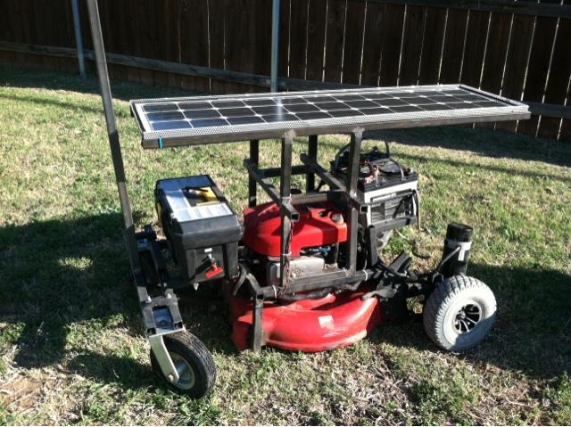 Arduino powered lawn mower - YouTube