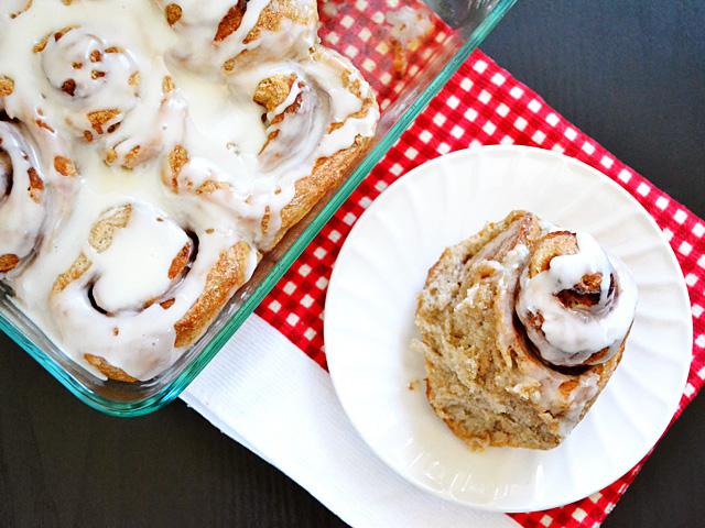 no-knead cinnamon rolls