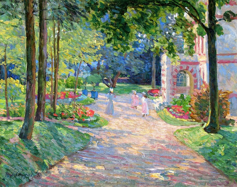Henri Lebasque - Women and Children in the Parc de Dammartin-1896