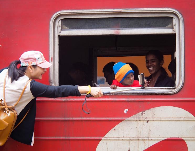A colorful train ride in Sri Lanka