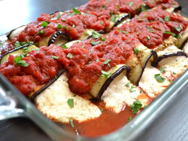 eggplant prosciutto rolls