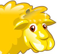 ovelha dourada colheita feliz