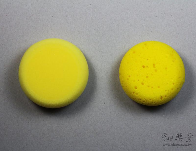陶藝工具-擦坯海綿中國與臺灣製比較