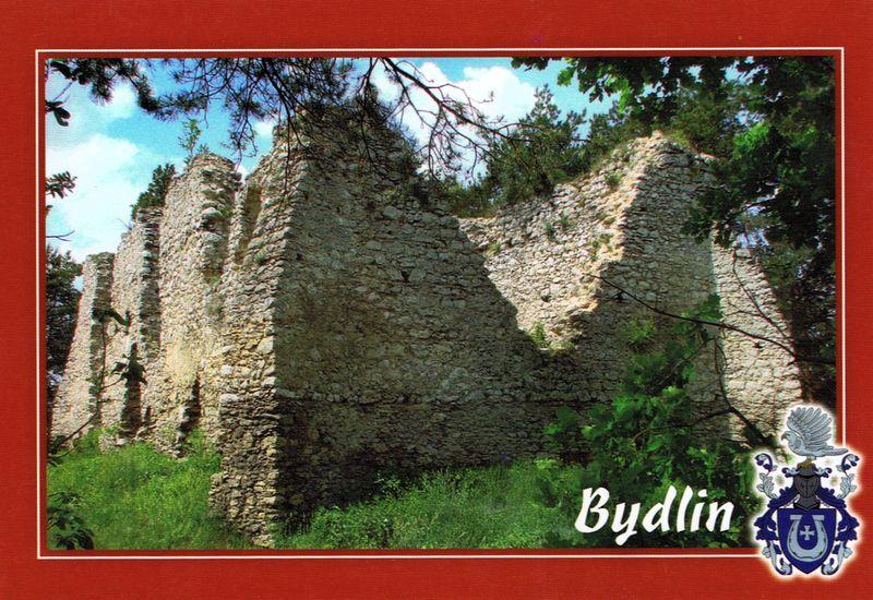zamek bydlin pocztówka