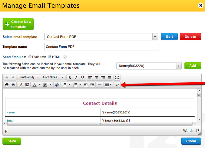 it notification email template - change the column width in email notifications