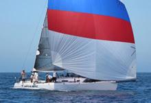 J/125 Timeshaver sailing Islands Race off California