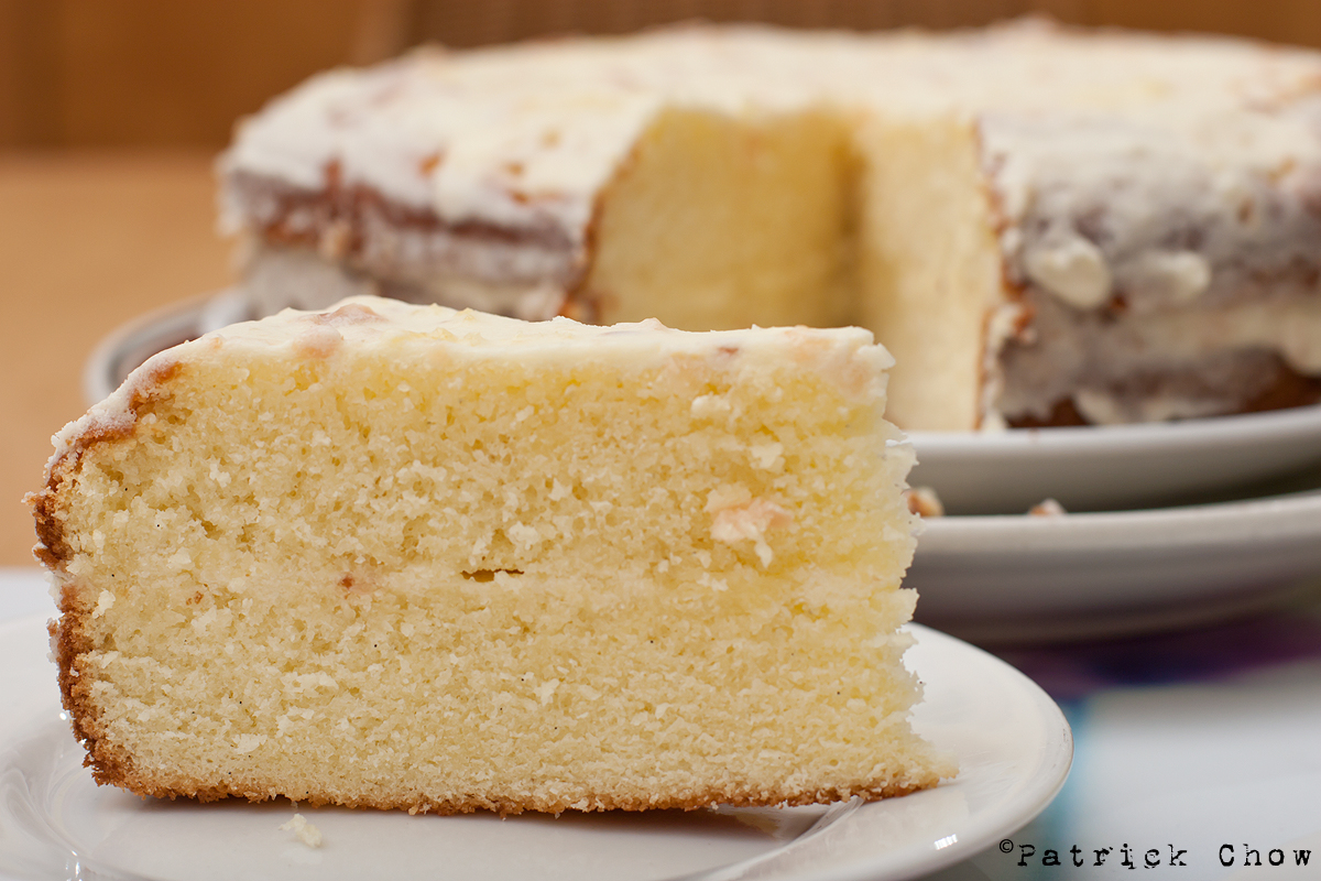 Easy Cake No Icing: Cook With No Books: Vanilla Cake With Lychee-coconut Icing