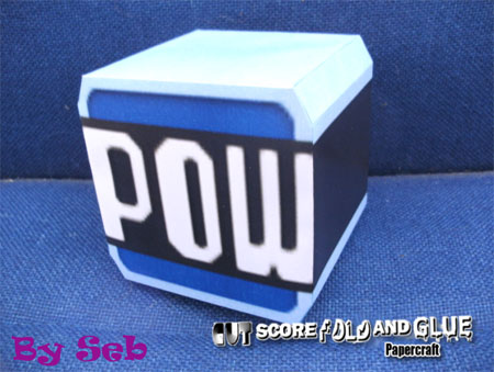 POW Block Papercraft