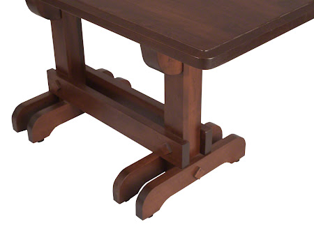 60 x 32 Mayfair Kitchen Table in Espresso Maple with Light Distressing