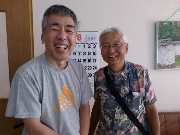 信治さんと成信さん、3年ぶりの再会