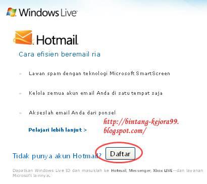 Membuat Email di Hotmail