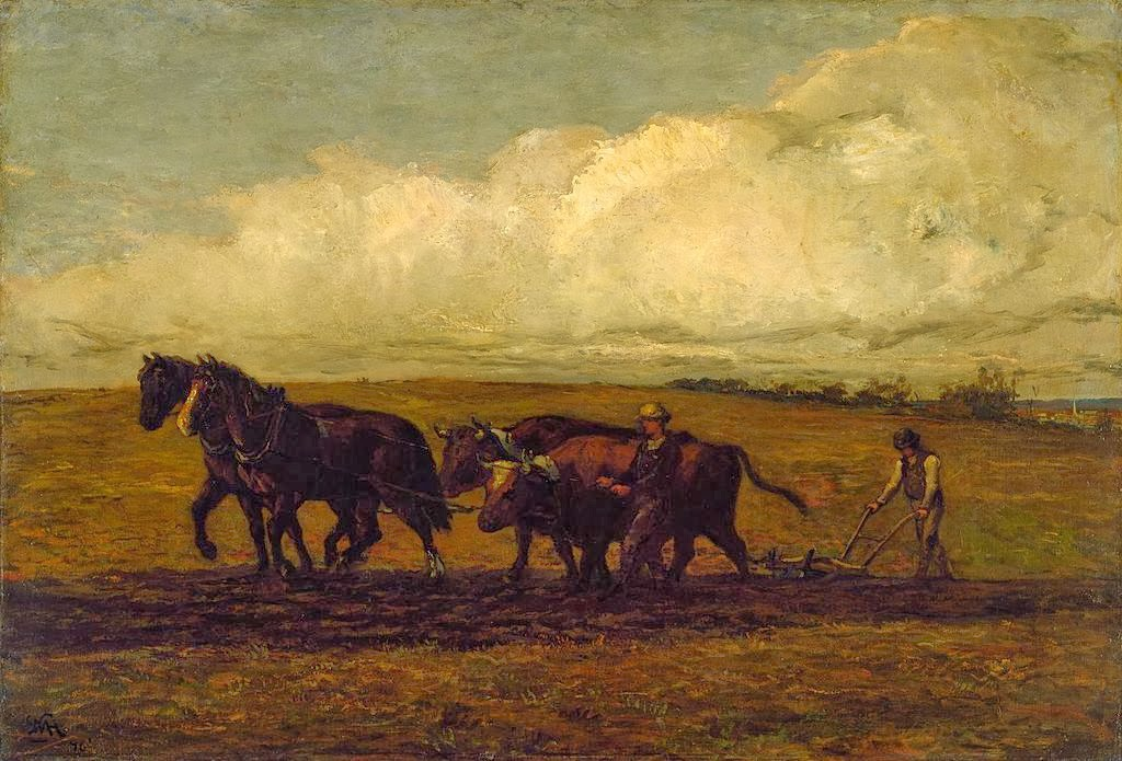 William Morris Hunt - Plowing