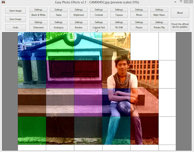 Efek Colored Grid