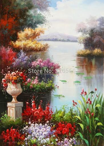 100% hand-painted Mediterranean oil painting