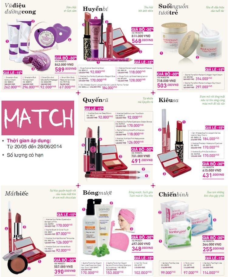 Chương trình Mix and Match Catalog 28
