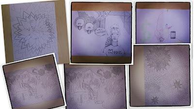 Doodling Math Earth Hour 2013, Anderstospsskolan i Skellefteå, Sweden