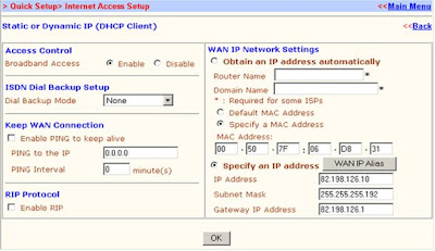 WAN, Dynamic IP y Static IP