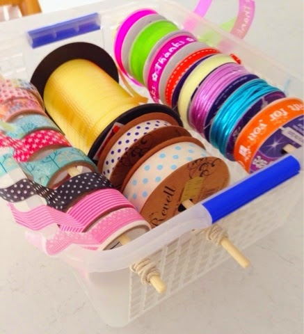 Ribbon, Tape and String... Simple Storage!