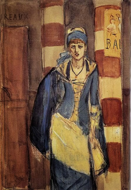 Félicien Rops - The Absinthe Drinker