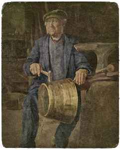 Kupferschmied Tille aus Horn. Quelle: Lippe Anno dazumal