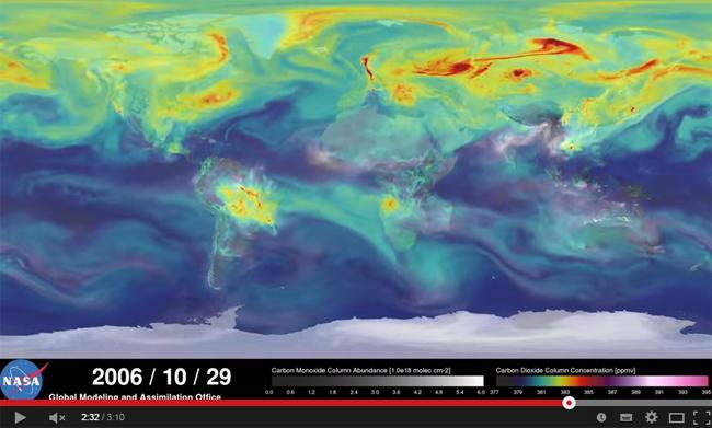 El ciclo de vida del dióxido de carbono en la Tierra mostrado por primera vez en un vídeo
