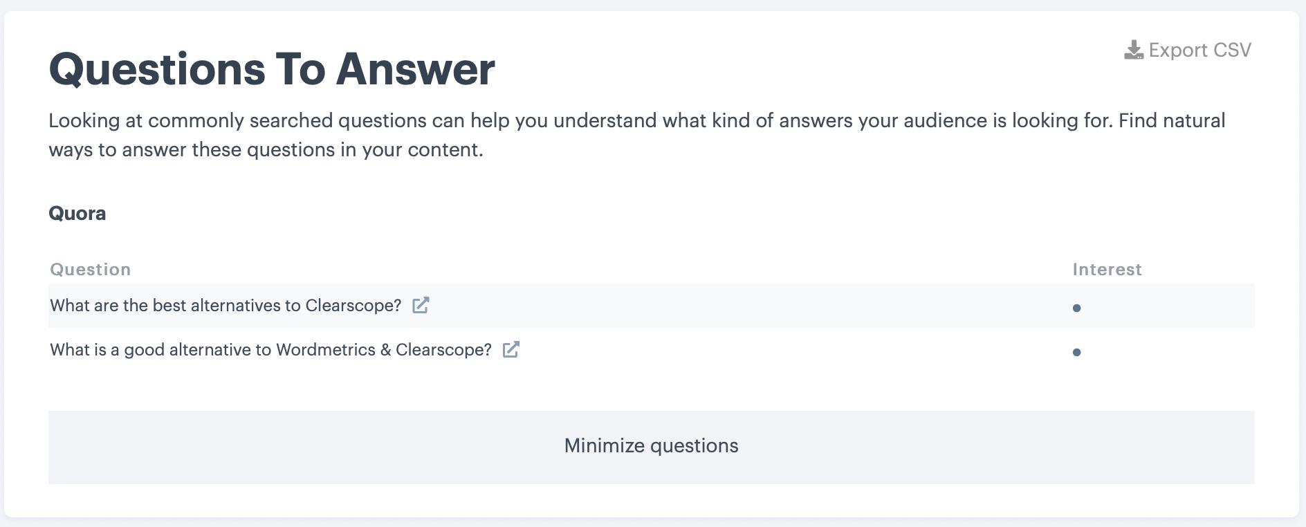 Content Outline Questions