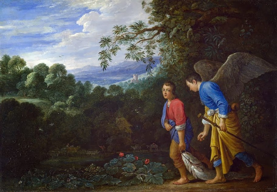 Adam Elsheimer - Tobias and the Archangel Raphael returning with the Fish
