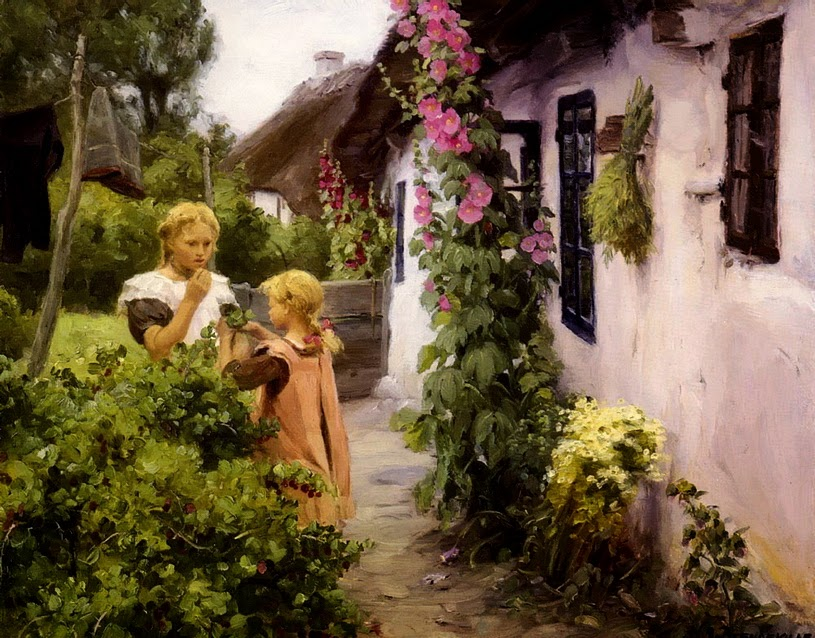 Hans Andersen Brendekilde - The Cottage Garden